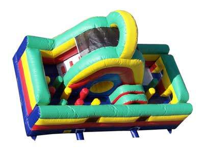 bounce house obstacle slide