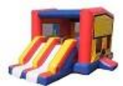 double slide moonwalk bounce house kc
