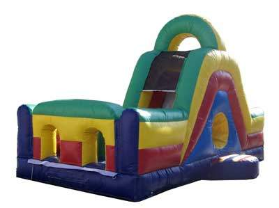 bounce house obstacle slide 2