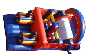 Obstacle Course Moonwalk Inflatable