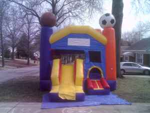 sports inflatable moonbounce